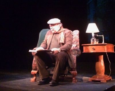 Bill Tremblay plays Dylan Thomas